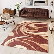 tapiso teppich wohnzimmer kurzflor modern beige braun creme leicht meliert streifen wellen schlafzimmer esszimmer ökotex 300 x 400 cm
