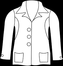 Clip Art Black And White Winter Coat Clipart