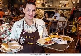 Vero Beach Florida Cracker Barrel Country Store restaurant woman waitress order job working employee serving plates