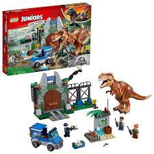 100 Dinosaur Truck LEGO Jurassic World TRex Breakout Set Juniors Figure