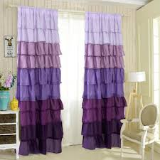Purple Ruffle Blackout Curtains by Purple Curtains