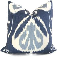 Decorative Lumbar Throw Pillows by Indigo Ikat Decorative Pillow Cover Kravet Bansuri 18x18