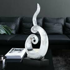 deko statue dekofigur turner skulptur wohnzimmer hochglanz