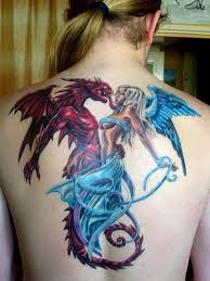 Angels N Demons Gothic Tattoo Designs On Back