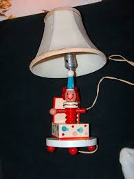 Underwriters Laboratories Portable Lamp Issue No by Vintage Childrens Clown In A Box Lamp With Original Lamp Shade