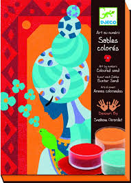 djeco colored sand by numbers blue princesses