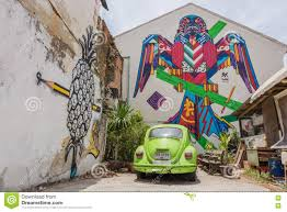 Famous Street Mural Artists by Phuket Thailand May 7 2016 A Mural Artwork Of Bird Robot By