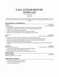 Sample Resume For Call Center Position New Unique 15