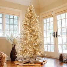 Fraser Fir Christmas Trees For Sale by Pre Lit Layered Platinum Frasier Fir Christmas Tree By Sterling