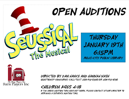 Open Auditions SEUSSICAL The MUSICAL ... - Movies, Music ... Outstanding Caoutstanding Productionaudience And Critical Hit Pophror Takes A Look Inside The Barn Listen Live To War Of The World Movies Music Open Auditions Seussical Musical Panorama Audiostream She Loves Me At Players Kc Studio November 2014 Journey By Carr Greenbelt Magic Band Mix Youtube 10th Annual 6 X 10 Play Festival Presented By Board Game Merch Store Regional Calendar Crucible Photos Videos At