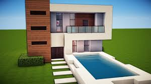 Simple Modern House With Pool Apartment Living Room Minecraft