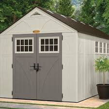 Suncast Garden Shed Taupe by Suncast Tremont 8 Ft 5 In W X 16 Ft 4 In D Plastic Storage
