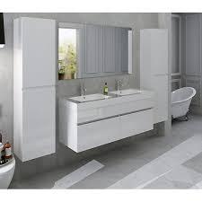 4 tlg badezimmer set inkl doppelwaschtisch weiß salesfever