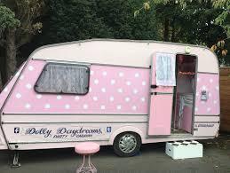 Caravan Decor Retro Pink Cars Vintage Caravans Campers Furniture Rocker Girl Camper Life