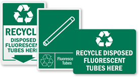 fluorescent recycling recycling label sku lb 4048
