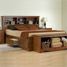 King Size Platform Bed With Headboard by Bookcase King Size Bed Bookcase Headboard Scandinavian King Size