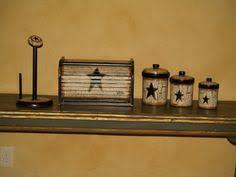 handpainted primitive star kitchen decor set by primitivestardecor