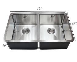 Karran Edge Undermount Sinks by 32 Inch 16 Gauge Undermount Double Bowl 50 50 15mm Radius Design