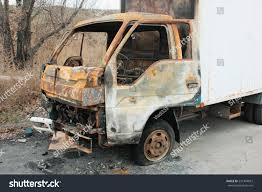 100 The Burnt Truck Small Burnt Truck Abandoned Along The Road EZ Canvas
