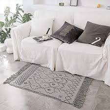 idee home quaste blumendruck chindi knoten bereich teppich gewebt teppich nordic style läufer für schlafzimmer wohnzimmer küche waschküche sofa