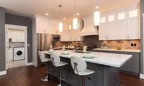 Kitchen Floor With Dark Cabinets