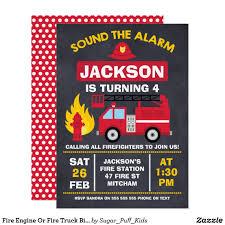 100 Fire Truck Birthday Party Invitations Engine Or Invitation Zazzlecom