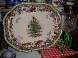 Spode Christmas Tree Platter by Antiques In The Cotswolds Kate Rich Painswick