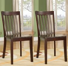 100 Heavy Wood Dining Room Chairs Set 2 Duty Solid Cherry Finish Value City
