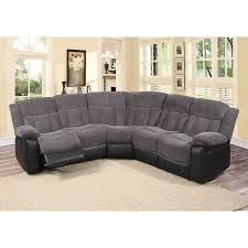 Gray Sectional Sofa Walmart by Aubrey 3 Pc Grey Fabric Living Room Reclining Sectional Sofa Set