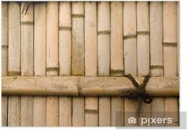 poster natürlichen bambuswand