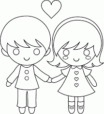 Coloring Pages Boy And Girl Enchanting