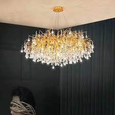 nordic luxus kristall kronleuchter beleuchtung dekoration