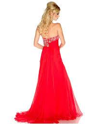 high side slit beaded crystal chiffon prom dresses formal