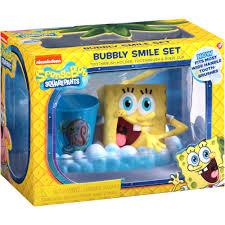 Spongebob Bathroom Decor Walmart by Nickelodeon Spongebob Squarepants Bubbly Smile Set 3 Pc Walmart Com