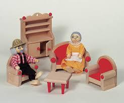 puppenhausmöbel natur wohnzimmer puppenmöbel holz