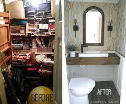 convert small closet to bathroom image of bathroom and closet