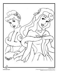 Disney Princesses Christmas Coloring Page