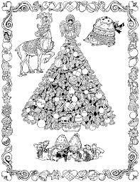 Christmas Trolls Coloring Page