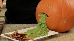 Pumpkin Throwing Up Guacamole With Cheese Dip by Halloween Guacamole Halloween With Modernmom Youtube