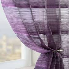 Green Striped Curtain Panels by Brown Curtain Details About Voile Net Sheer Panel White Cream Red