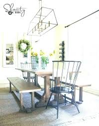 Modern Farmhouse Dining Table Set Round Kitchen And Chairs