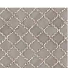dove gray arabesque lantern mosaic tiles