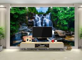 3d Room Wallpaper Custom Photo Non Woven Mural Mountain Waterfalls Running Water Painting Picture Wall Murals For Walls 3 D Widescreen