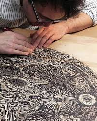Relief Printing Consists Of Woodcut Linoleum Cut Letterpress Collograph And Any Process In Which The Surface Is Away So That Image Area