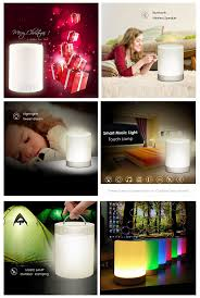 led light speaker ubit smart touch portable