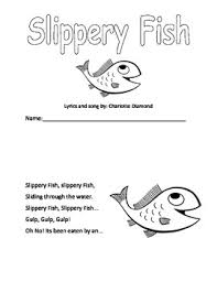 Slippery Fish Booklet By Miss Little