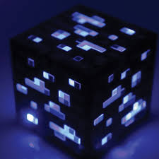 Redstone Lamps That Turn On At Night by Amazon Com Think Geek Minecraft Light Up Diamond Ore Home