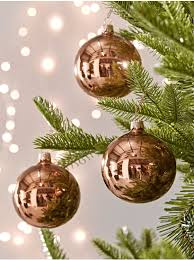 Christmas Tree Decorations Traditional Gold Silver Glass Baubles Uk