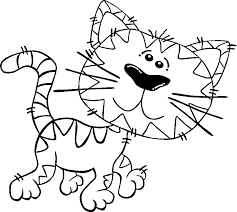 Cartoon Cat Walking Coloring Pages Of Animals