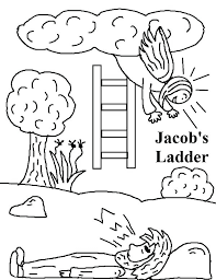 Jacobs Ladder In Jacob And Esau Coloring Page Colouring Sheets